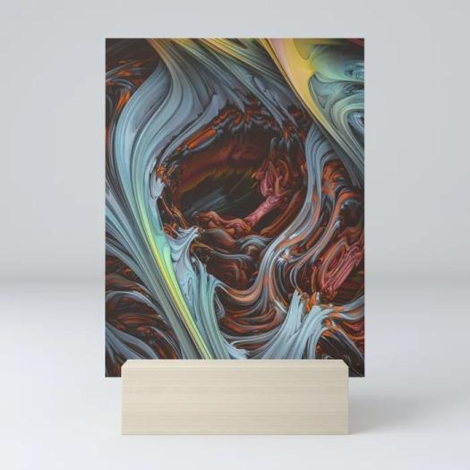 Glacial Mass II. Wind & Fire 3D Abstract Art mini print
