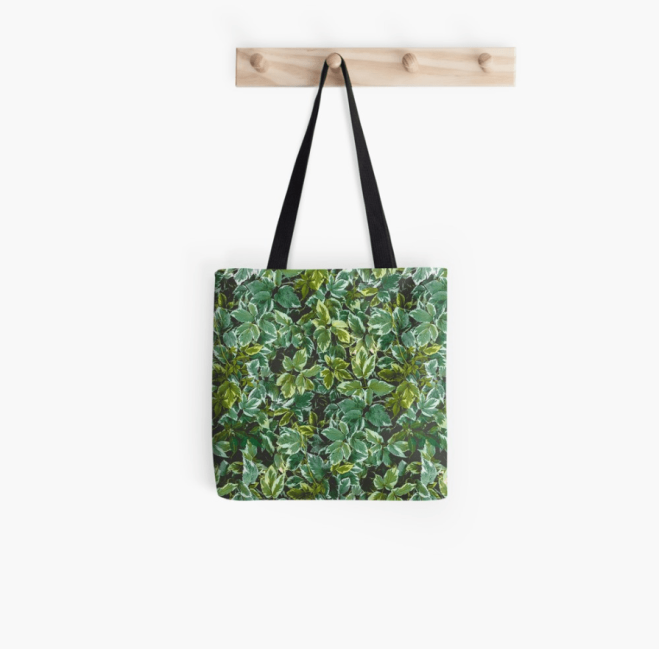 Leafage Green Foliage Nature Photo Pattern Tote Bag