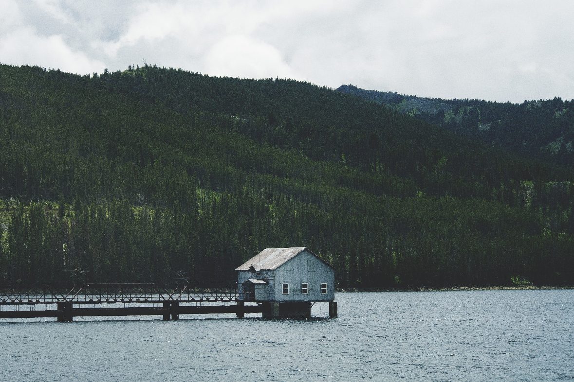 Shack on the Water. Landscape Photograph