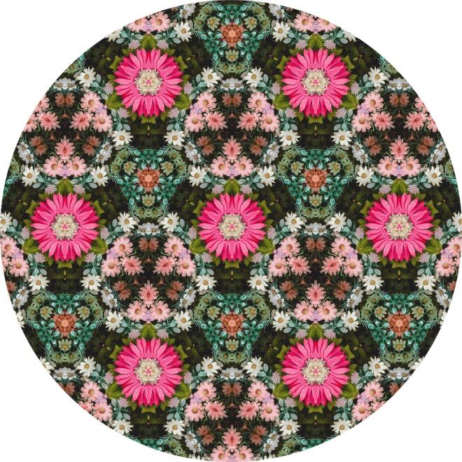 Flower Patch Photo Kaleidoscope Pattern. By Patterns Soup