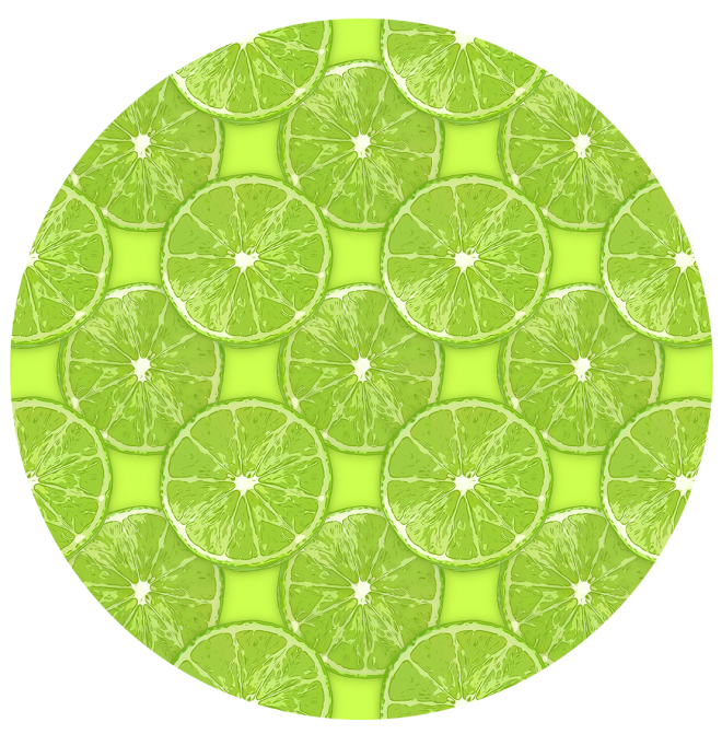 Lime Slice Vector Pattern by Patterns Soup