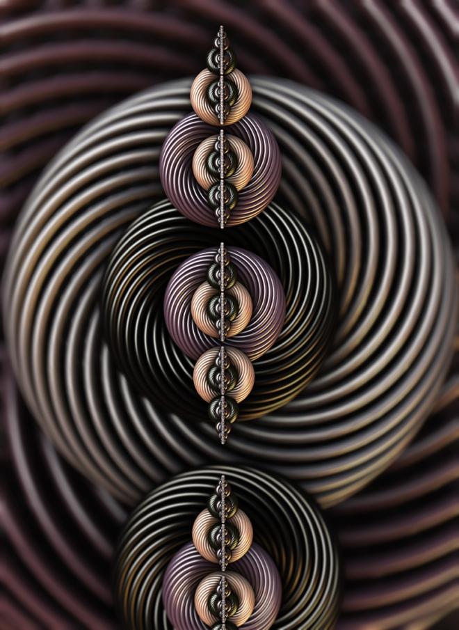 Torsion Twist. Abstract Art By Stephen Geisel, luv-fi.com