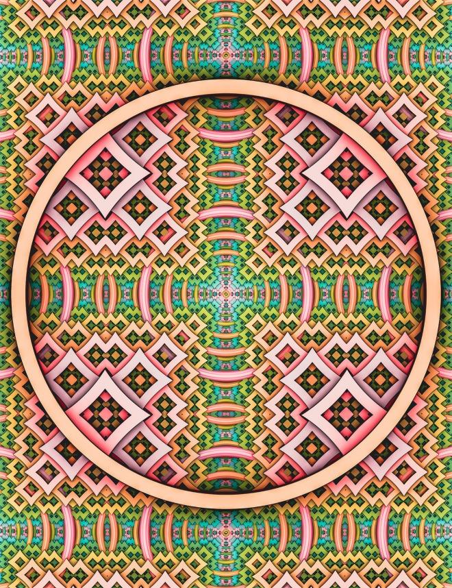 pOp. Abstract Pattern Design Art Print by lovefi