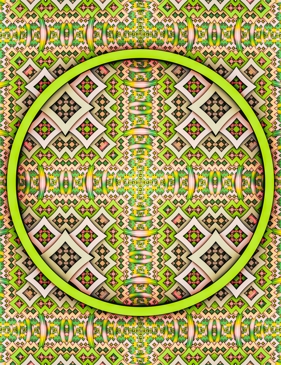 PoP. Lime Abstract Pattern Design Art Print by lovefi