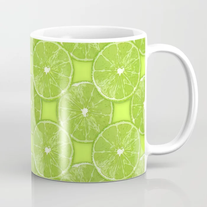 Lime Slice Vector Pattern by Patterns Soup mug