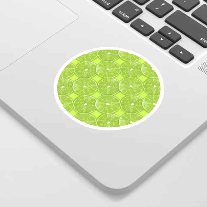 Slice of Lime Pattern Sticker by PatternsSoup