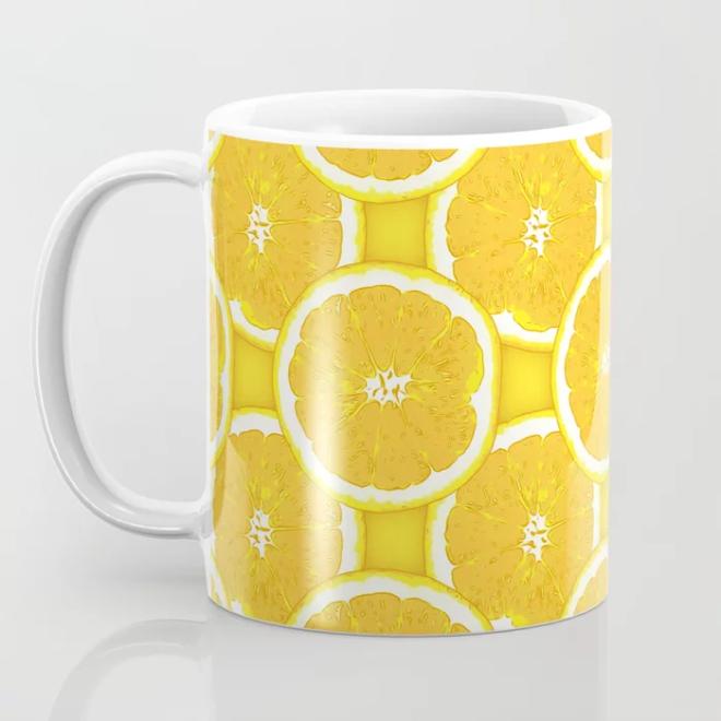 Orange Slice Vector Pattern by Patterns Soup MUG