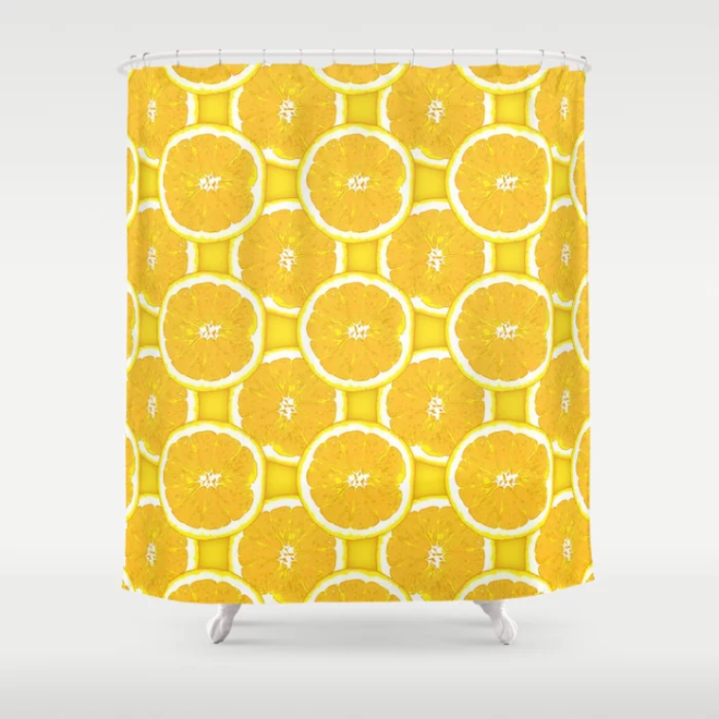 Orange Slice Vector Pattern by Patterns Soup Shower Curtain