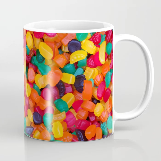 Jujubes Gummy Candy Photo Pattern MUG by Patterns Soup
