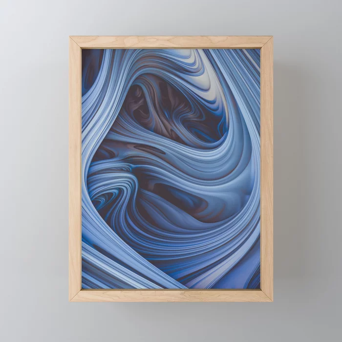 Arctic Taffy. Abstract Art Framed Mini Art Print by lovefi On Society6