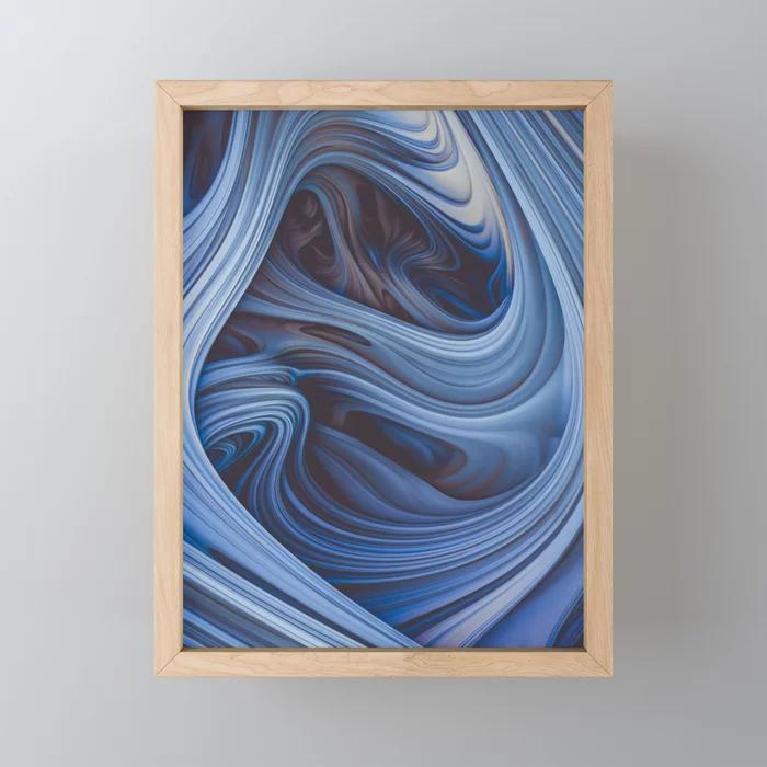 Arctic Taffy. Abstract Art Framed Mini Art Print by lovefi On Society6