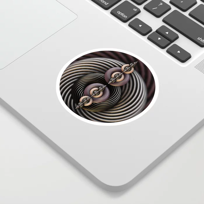 Torsion Twist. Abstract Art Sticker by lovefi
