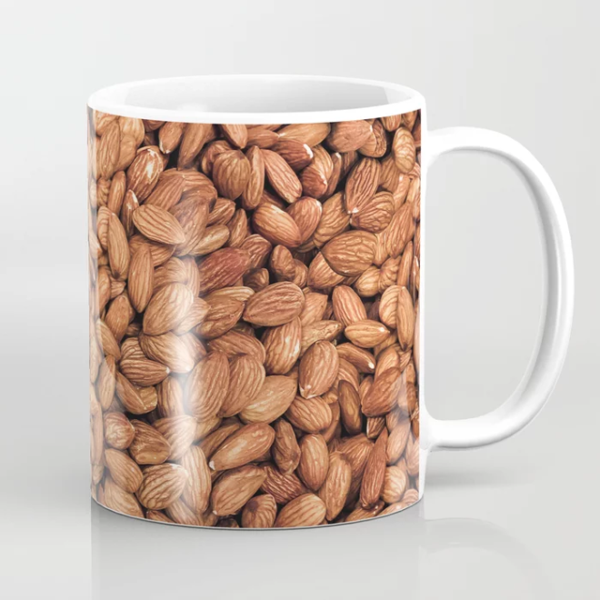 Organic Almond Photo Food Pattern Coffee Mug by PatternsSoup