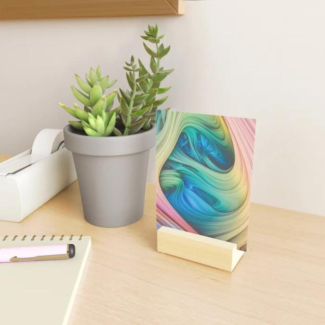Taffy Tie Dye. 3d Abstract Art Mini Art Print by lovefi