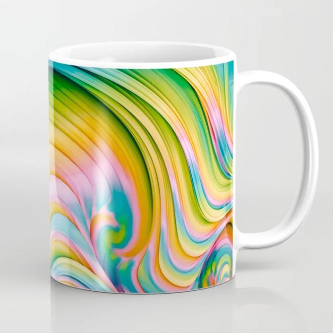 Taffy Tie Dye II. Psychedelic Melt Coffee Mug by lovefi