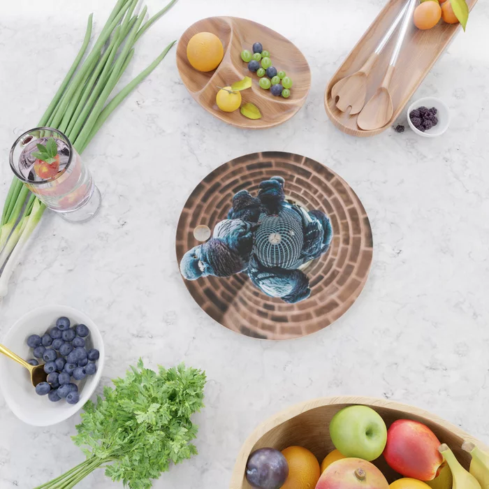 Pigeon Planet Cutting Board by lovefi