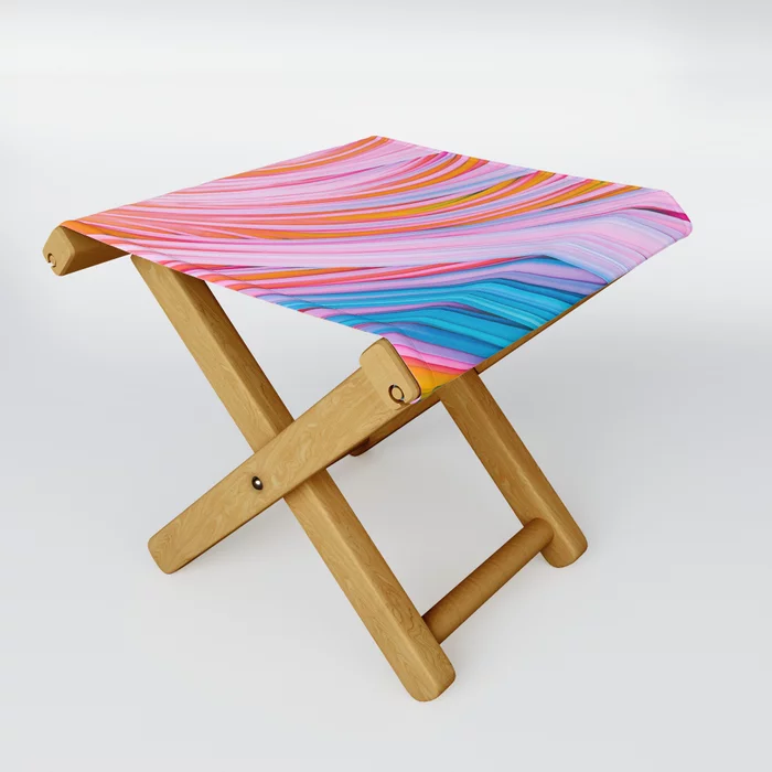 Strain Wave. Abstract Folding Stool by lovefi