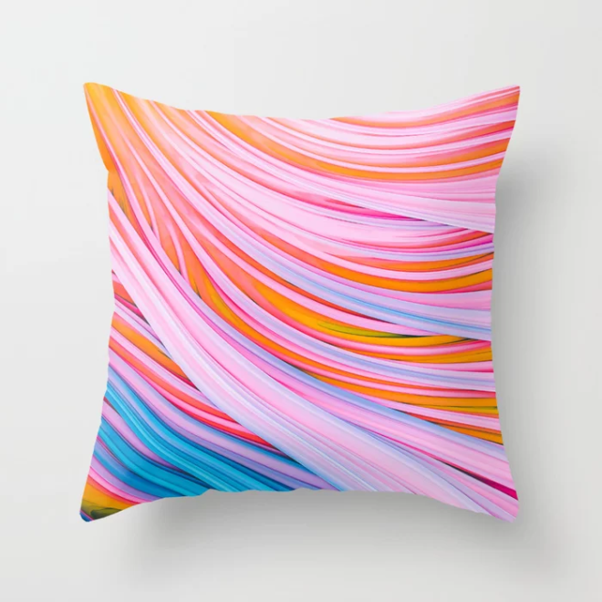 Strain Wave. Abstract Throw Pillow by lovefi