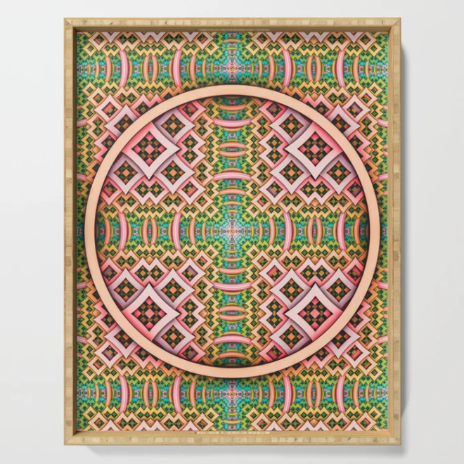 pOp. Abstract Pattern Design Serving Tray by lovefi