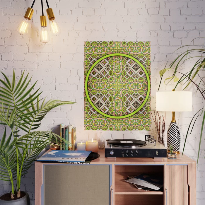 PoP. Lime Abstract Pattern Design Poster by lovefi