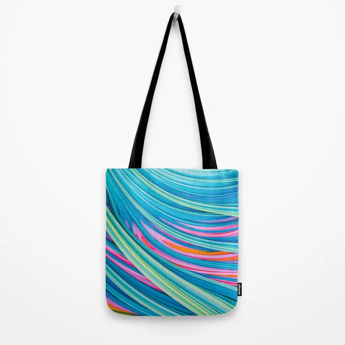 Strain Wave II. Abstract Art Tote Bag by lovefi