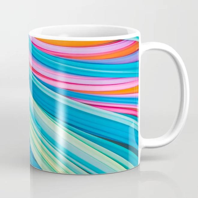 Strain Wave II. Abstract Art Coffee Mug by lovefi