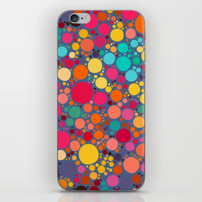 Vector Color Stones Pattern Design iPhone Skin by PatternsSoup