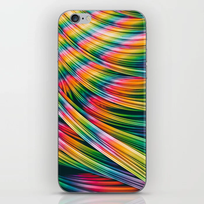 Strain Wave III. Tie-Dye iPhone Skin by lovefi