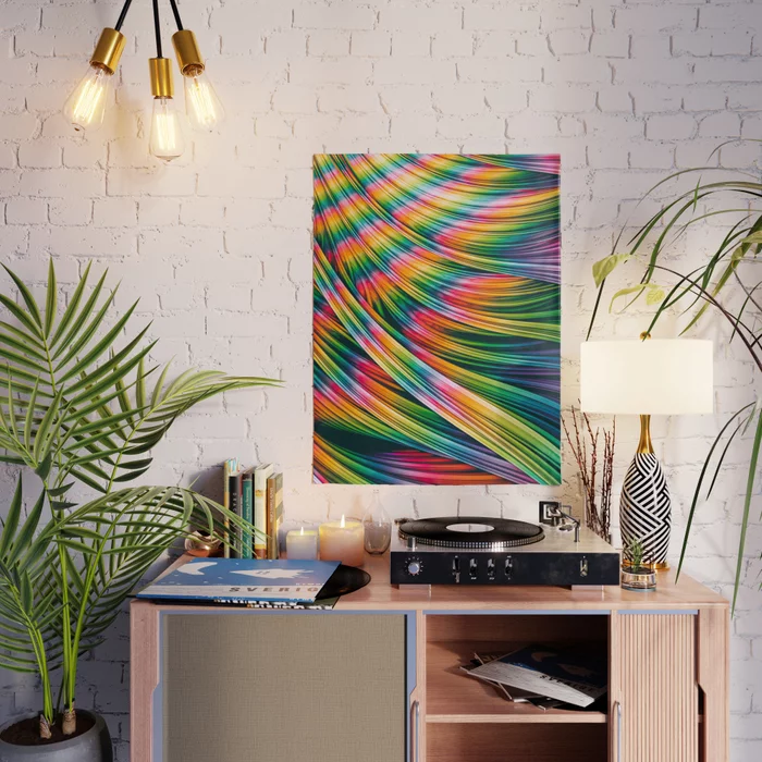 Strain Wave III. Tie-Dye Poster by lovefi