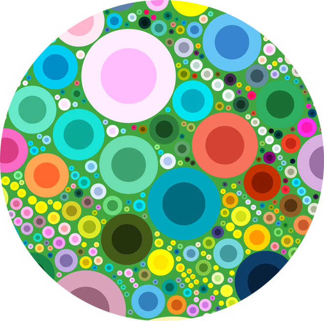 Green Multi Bubble POP! Vector Pattern by Patterns Soup