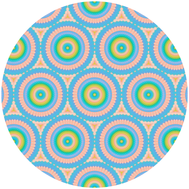 Happy Pastel Super Circles Vector Pattern by Patterns Soup