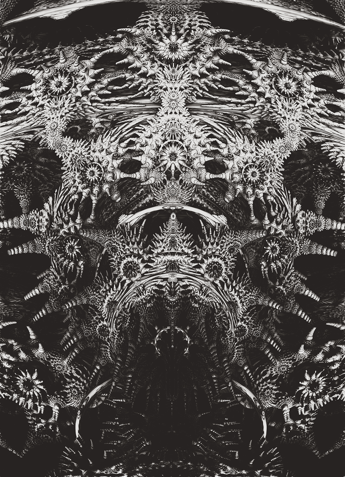 Emperor. Black and White Abstract Art.