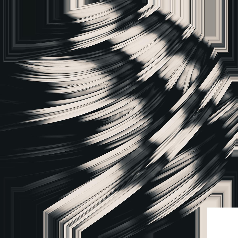 Zebra Strain. Black and White Strands. Abstract Art By Stephen Geisel, love-fi