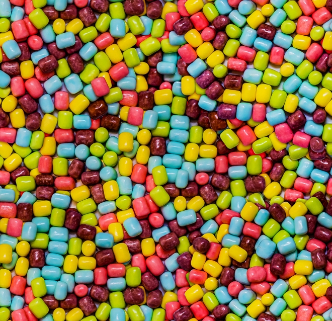 Cotton Candy Marshmallow Candies Pattern by Patterns Soup