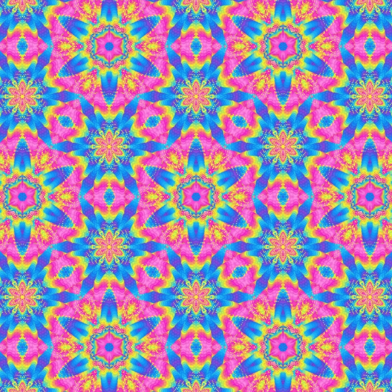 Pink and Blue Superstar Abstract Pattern By PatternsSoup