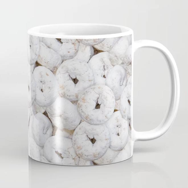 Mini Powdered Sugar Donuts Photo Pattern Coffee Mug by PatternsSoup