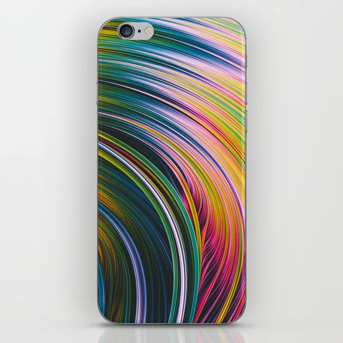Stranded Strain III.  Blue, Green, Pink & Yellow iphone skin   by Stephen Geisel, Love-fi