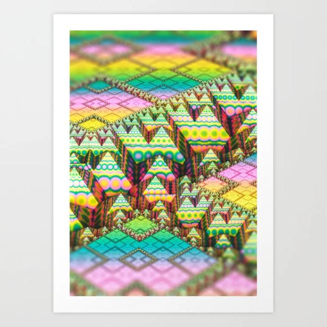 infrastructure. 3d Abstract Art Art Print by lovefi