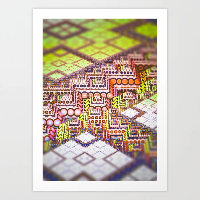 infrastructure II. Abstract Design Art Print by lovefi