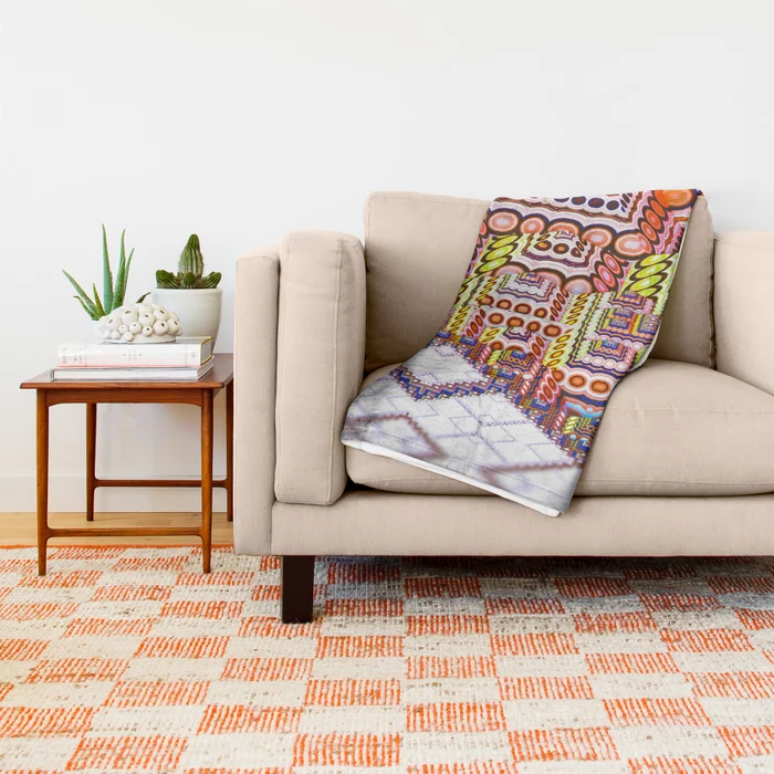 infrastructure II. Abstract Design Throw Blanket by lovefi