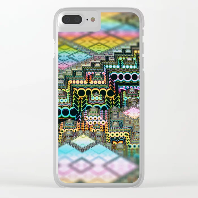 infrastructure IV. Pastel Pyramids Clear iPhone Case by lovefi
