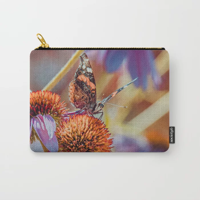 Landing Pad. Beautiful Butterfly Photograph Carry-All Pouch by lovefi