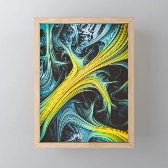 Tundara. Digital Abstract Framed Mini Art Print by lovefi