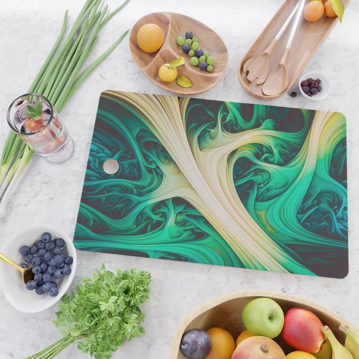 Tundara II. Abstract Melt Cutting Board by lovefi