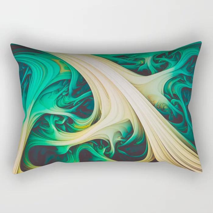 Tundara II. Abstract Melt Rectangular Pillow by lovefi