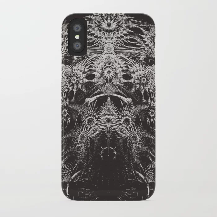 Emperor. Black & White Abstract iPhone Case by lovefi