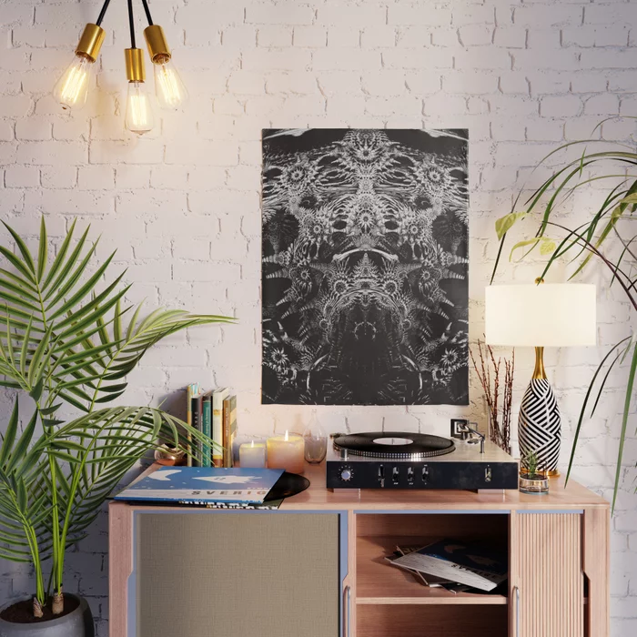Emperor. Black & White Abstract Poster by lovefi