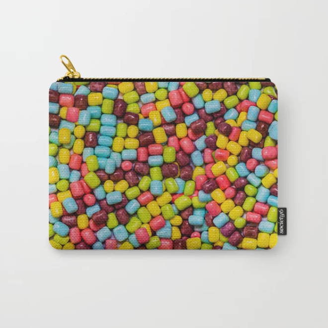 Cotton Candy Marshmallow Candies Pattern Carry-All Pouch by PatternsSoup