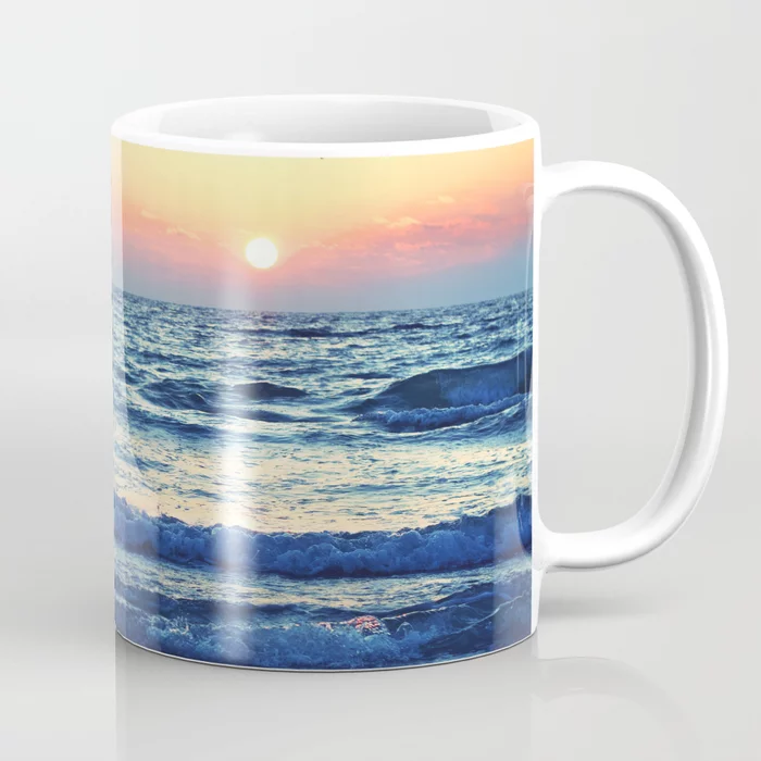 Sunset Beach. Photograph Coffee Mug by lovefi