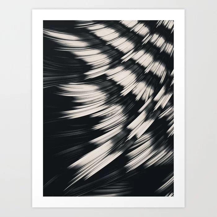 Zebra Strain. Abstract Zebra Stripes Art Print by lovefi